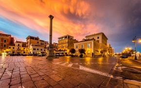 Picture sunset, lights, the evening, Italy, twilight, La Maddalena