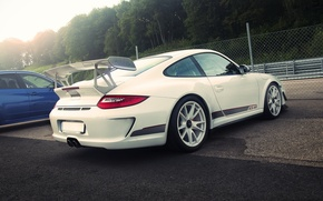 Picture Porsche, white, GT3 RS, 4.0