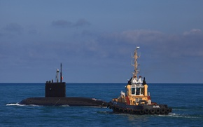 Picture boat, tug, underwater, The black sea, 636.3 project