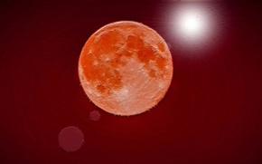 Picture moon, magic, colours, strange, beutifil