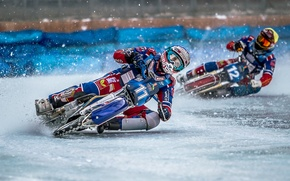 Picture sport, bike, race, Ice Speedway