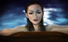 Wallpaper water, girl, mermaid, art, pirates of the caribbean, gemma ward, pixiv, jakurin