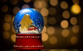 Picture background, holiday, widescreen, Wallpaper, toy, new year, wallpaper, new year, widescreen, background, bokeh, Christmas ball, …