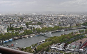 Picture city, Paris, river, bridge