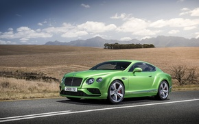Picture photo, Bentley, Continental, Car, GT Speed, 2015, Green, Metallic, Luxury