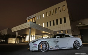 Picture tuning, GTR, Japan, Nissan, white, supercar, front, japan, tuning, speedhunters, 2013, wallpeapers