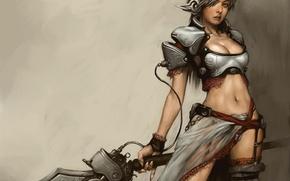 Wallpaper Girl, Sword, RF Online, Koritko