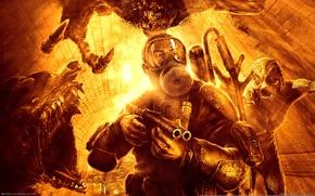 Wallpaper metro 2033, Fire, Mutants, A4GAMES, THQ