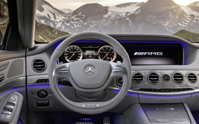 Picture interior, Mercedes, luxury, S63 AMG