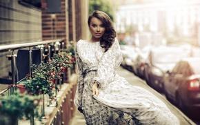 Picture look, girl, street, dress, gait, Karen Abramyan
