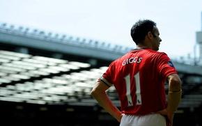 Picture football, Manchester United, stadium, ryan giggs, Ryan Giggs