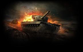 Picture art, tank, USA, USA, America, tanks, WoT, World of Tanks, T29