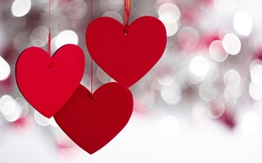 Picture red, heart, bokeh