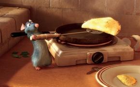 Wallpaper cartoon, pancakes, Ratatouille, prepares