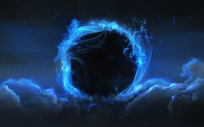 Picture Star, blue, Sci Fi, black hole