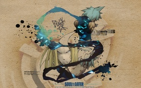 Picture anime, soul eater, black star, mifune