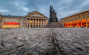 Picture Germany, Munich, monument, Germany, Munich, National Theatre, Square Of Max Joseph, National theatre, Max-Joseph-Platz
