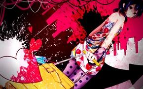 Picture heart, vocaloid, Vocaloid, pink color, Nekoame, kaai yuki
