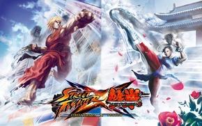 Wallpaper street fighter, Street Fighter X Tekken, ken vs chun li