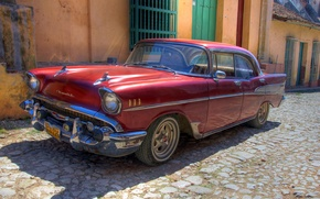 Picture machine, retro, Wallpaper, Chevrolet, old, car, Cuba, Havana