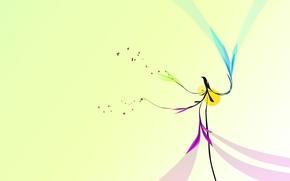 Wallpaper minimalism, bird, design