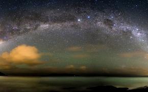 Wallpaper The Atlantic ocean, stars, The Milky Way