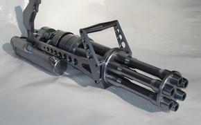 Wallpaper metal, weapons, machine gun, 6 a shot
