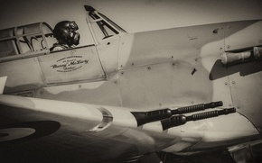 Wallpaper fighter, war, pilot, Hurricane, interceptor, Hawker, single, Mk IV, world, Second, times