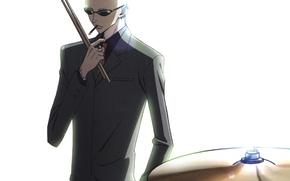Picture sticks, piercing, glasses, white background, art, bald, ai yazawa, Nan, nana, Yasushi Taka The