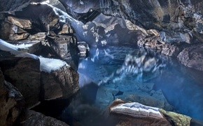 Picture cave, Iceland, Blue Water Cave