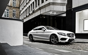 Picture white, Mercedes-Benz, Mercedes, AMG, Coupe, C-Class, C205