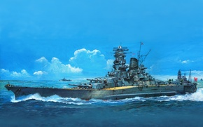 Picture figure, art, battleship, TAMI MUSE CITY BE
