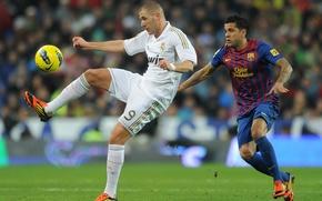 Picture Barcelona, Real Madrid, El Classico, K. Benzema, D.Alves