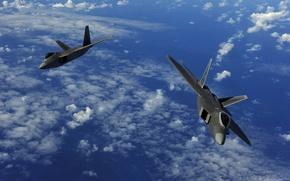 Wallpaper flight, two, aircraft, military