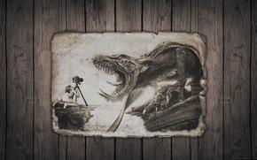 Picture girl, fantasy, camera, dragon, fabtasy, phographer