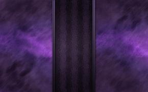 Picture purple, line, strip, glow, texture, wavy, darkish