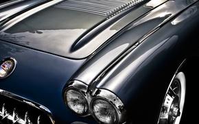 Picture background, Corvette, Chevrolet, the hood, Chevrolet, classic, 1957, Corvette