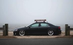 Picture the sky, fog, shore, Volkswagen, Jetta, MK6
