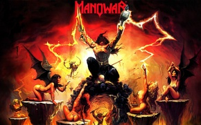 Picture warrior, harpies, heavy metal, Manowar
