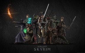 Picture Orc, skyrim, Skyrim, the elder scrolls 5, the Argonian, Redguard, Breton, high elf, the Khajiit, …