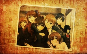 Picture retro, photo, anime, friends, anime, other, another, Mei Misaki, classmates
