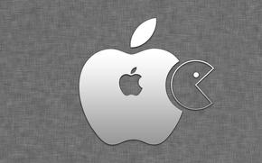 Picture apple, Apple, pacman