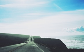 Picture auto, road, the sky
