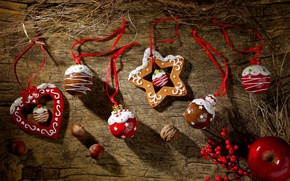 Picture decoration, holiday, heart, star, star, Happy New Year, heart, Merry Christmas, holiday, decoration, Happy New …