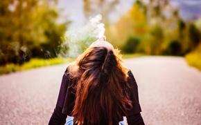 Picture road, girl, smoke, Nico Sperlea