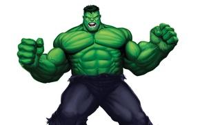 Picture green, monster, light background, Hulk, comic, hulk