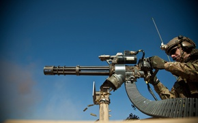 Picture gun, USA, bullets, soldier, desert, military, weapon, war, US Army, gloves, pearls, machine gun, ammunition, …