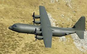 Wallpaper Lockheed Martin, Super Hercules, flight, military transport, C-130, the plane