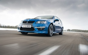 Picture Winter, Auto, Blue, Machine, Lights, Vauxhall, VXR8, The front, In Motion, tourer