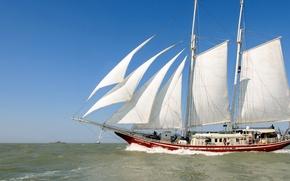 Picture ship, sails, sailboat, mast